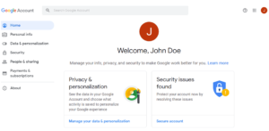 Gmail account first time welcome page for every new accounts