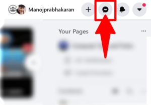 Open the messenger icon on Facebook