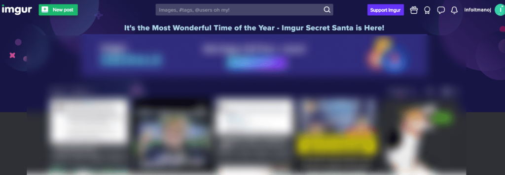 Imgur official website page