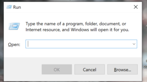 Run the command prompt on windows system
