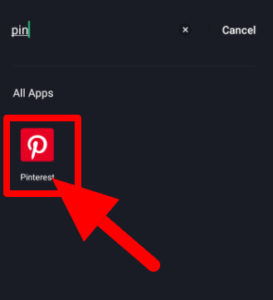 Open Pinterest Mobile App