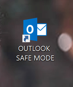 Outlook Safe Mode shortcut icon