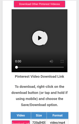Video Download Preview and quality