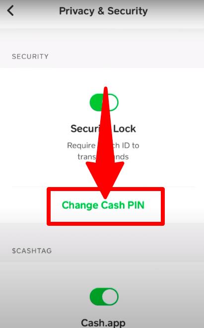 Click Change Cash Pin option