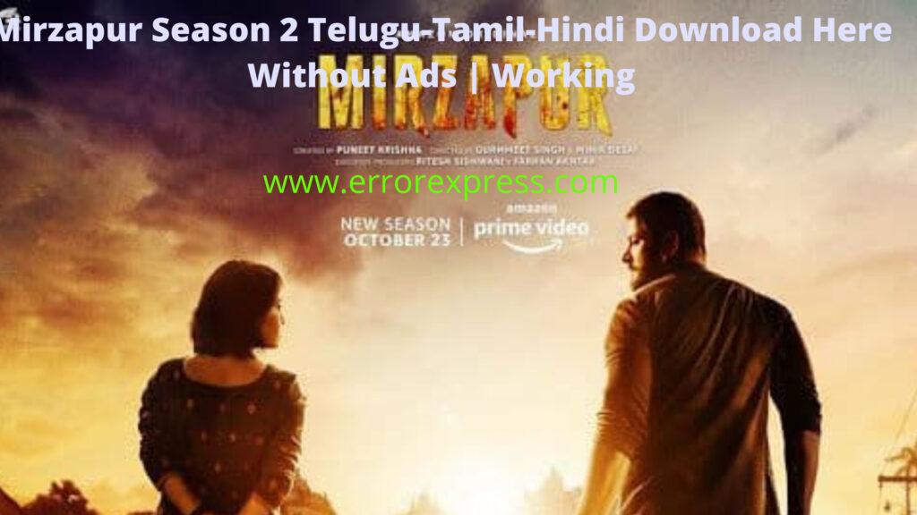 Mirzapur Season 2 Telugu-Tamil-Hindi