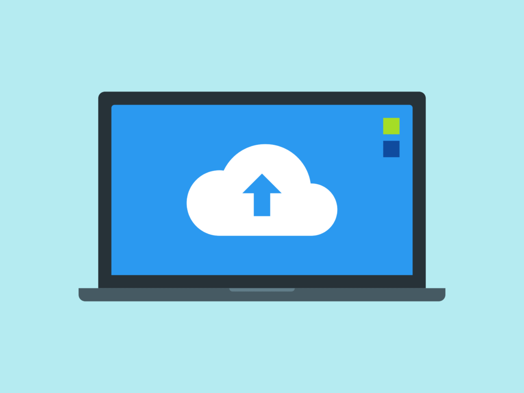 Upload the file through Cloud Storage Service