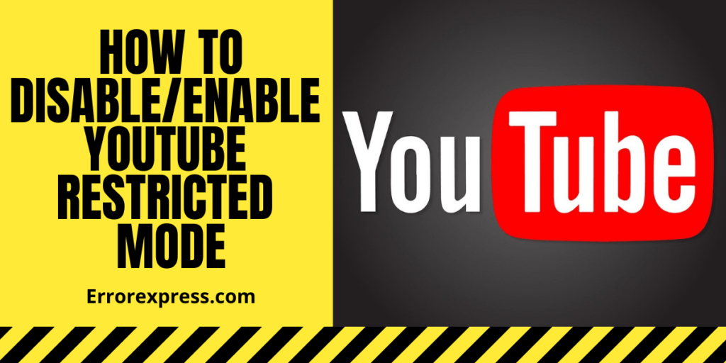 How to Disable/Enable YouTube restricted mode on PC/Mobile