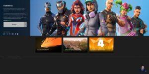 Fortnite Game Homepage