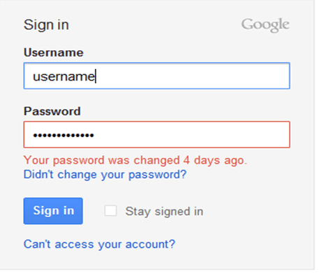google sign in page