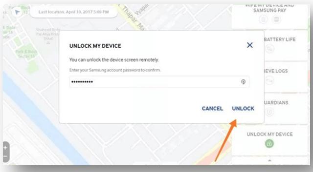 Unlock my device in samsung device unlocking software