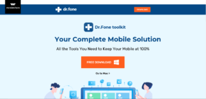 DR.FONE Homepage