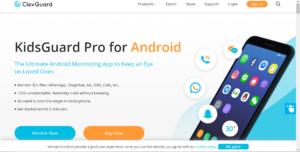 KidsGuard Application Main Page