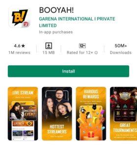 Screenshot of BOOYAH App Play Store