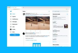 Screenshot of latest twitter trends
