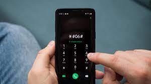 Dial pad type *#06#