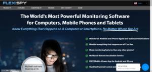 Flexispy spy application homepage