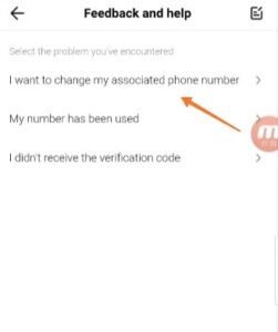To remove your phone number from TikTok select the option shown in this image