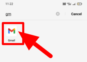 Open the Gmail App on Android Device
