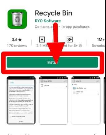 Recycle bin android app from playstore