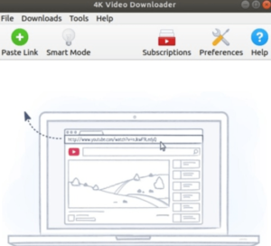 4K Video Downloader Main Page and Paste Link Button option