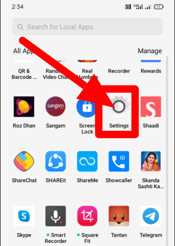 Settings Icon in Android Mobile