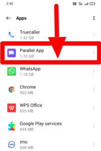 Parallem App and their file consume size