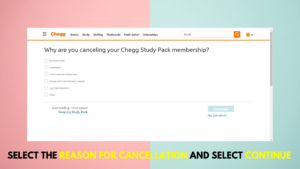 Step 5 to delete your chegg account