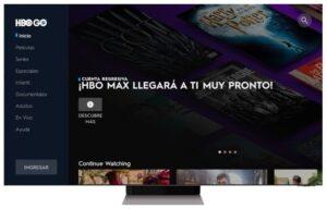 HBO MAX Home screen screenshot
