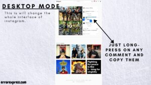 How to copy paste comments on instagram