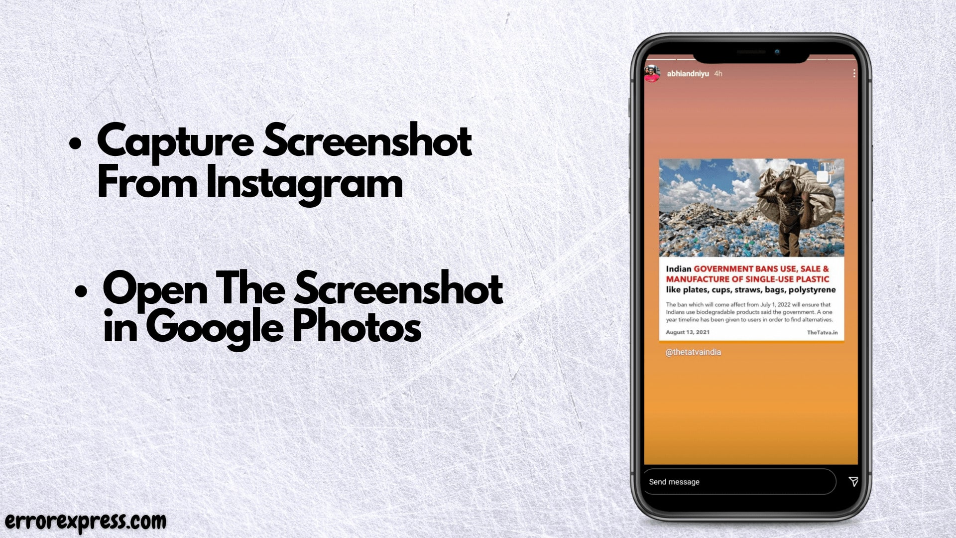 To copy paste text from instagram using ocr technology