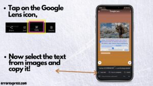 Copy paste any text on instagram using ocr technology