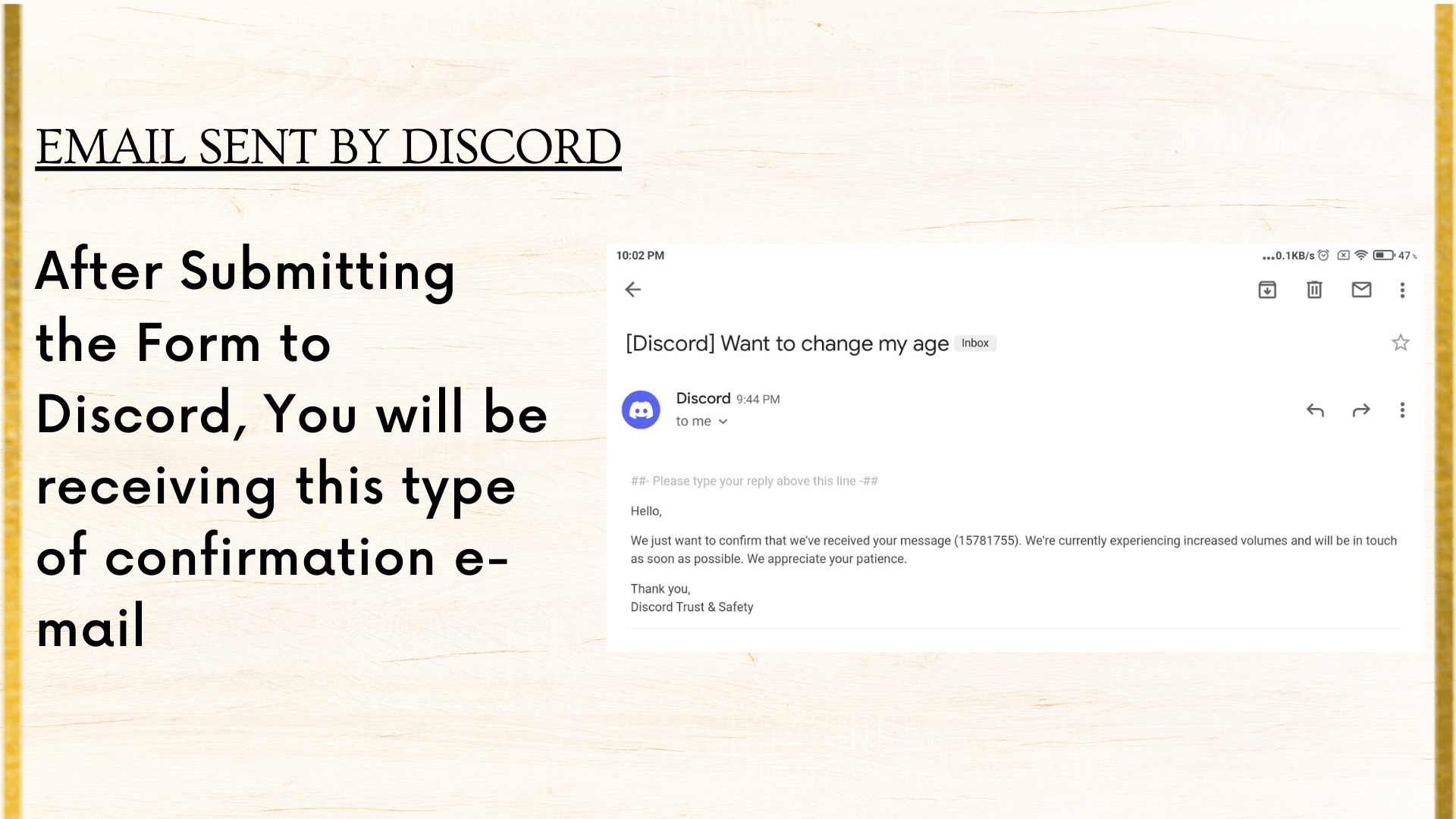 This is email sent by discord