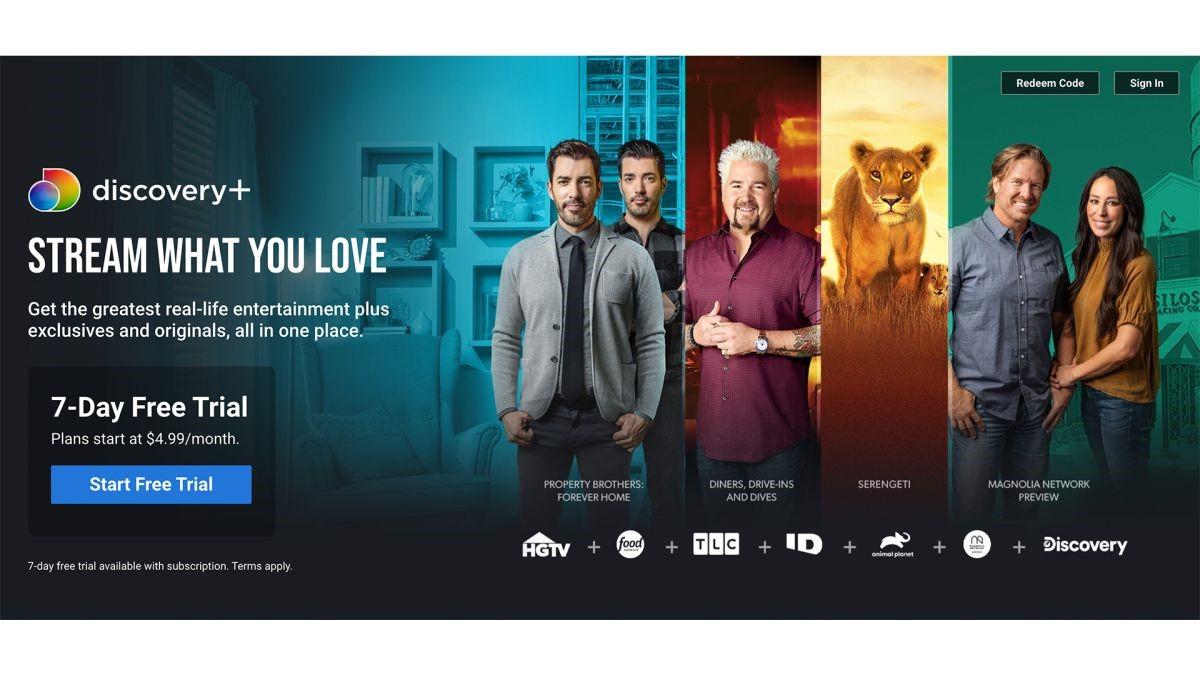 Discovery Plus Home Screenshot
