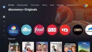 Discovery + Originals Home Screenshot