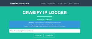 Copy Paste Profile Link in Grabigy Ip Logger