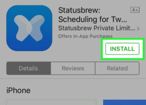 Statusbrew App Store Application Installation Page
