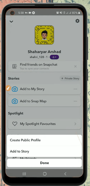Create SnapChat Stories and Content Option for Public Profile