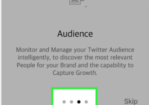 Using skip button to skip the tutorial