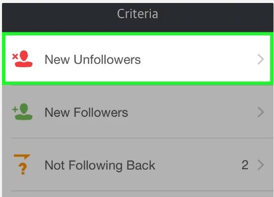 New Unfollowers Button