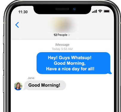 Imessages in Group Chat