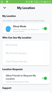 In SnapChat Turn On Ghost Mode