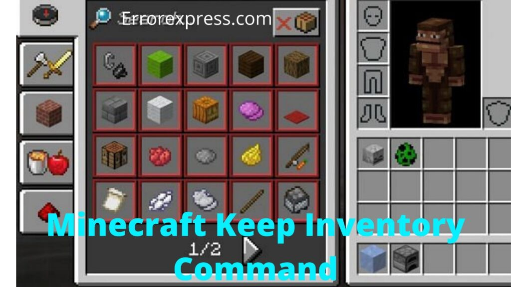 How to Keep Minecraft Inventory Command After Death | 2021 Full Guide