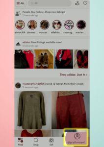 This is the step 1 of how to delete poshmark account in mobile phone