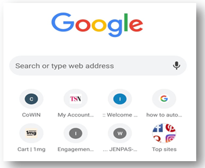 Open the web browser