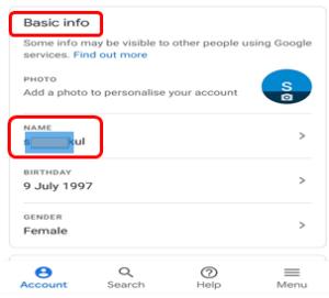 basic info name