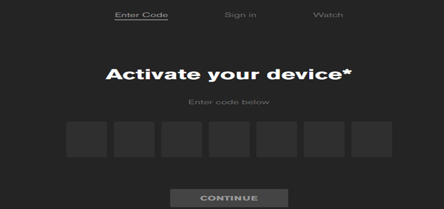 Activate Your Device Screen