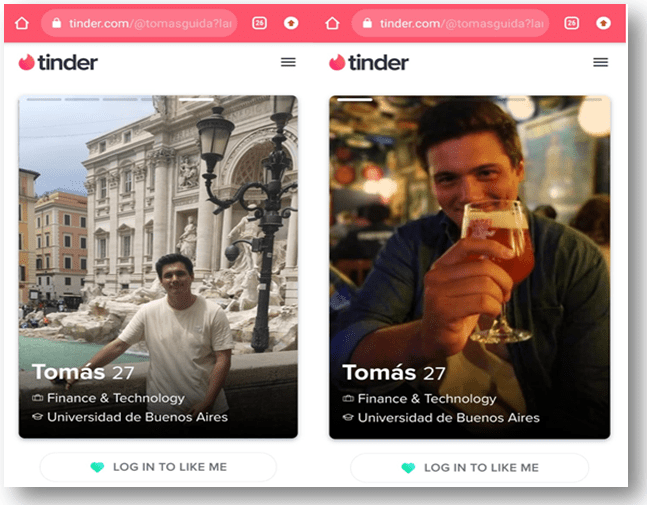 Tinder Search Screen