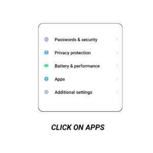 Click on apps image