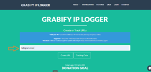 Grabify IP Logger and Enter the URL Link