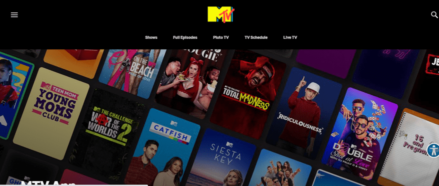 MTV On Android TV Screen